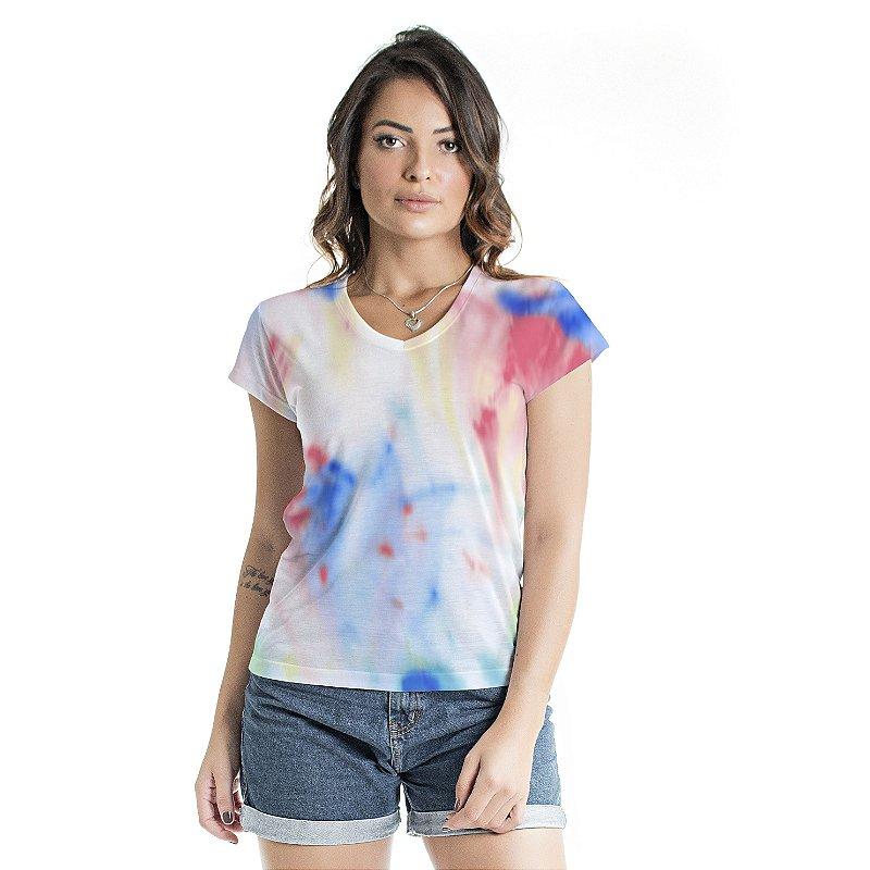 Blusa Florata Tie Dye Candy