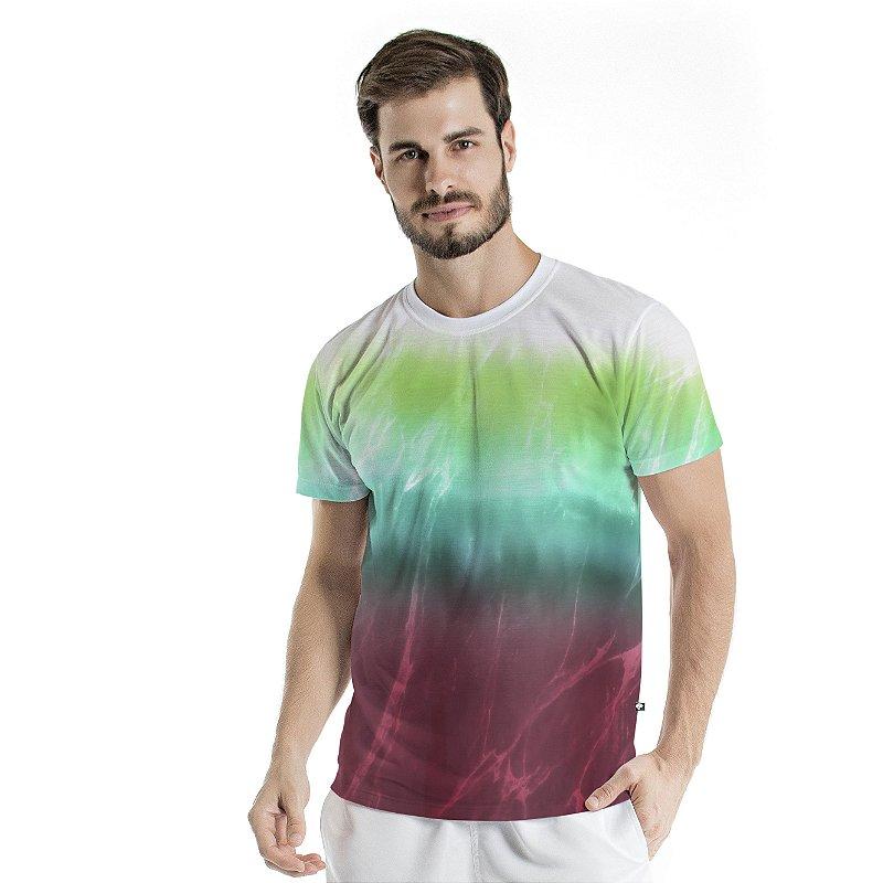 Camiseta Básica Adulto Tie Dye Degradê Rust