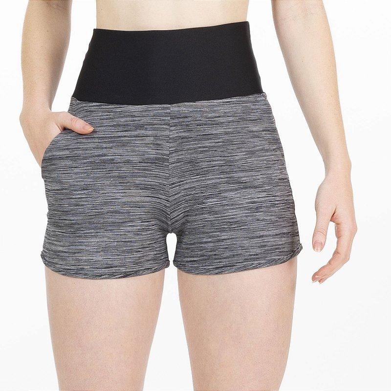 Shorts Fitness Cós Alto Preto