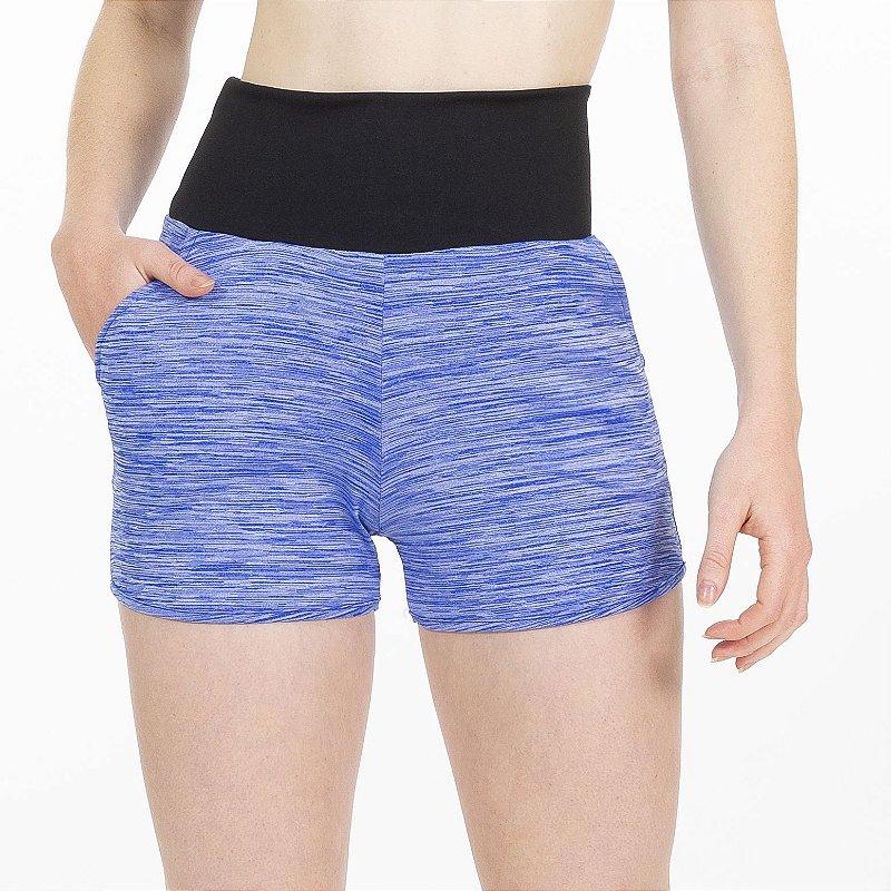 Shorts Fitness Cós Alto Blue