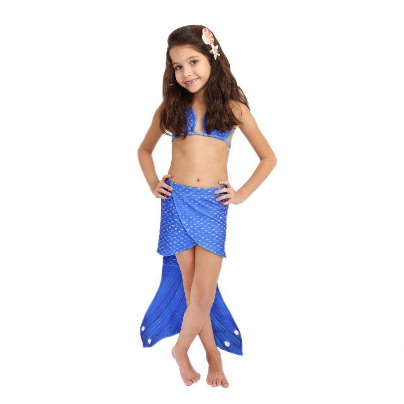 Saia Sereia Malu Azul