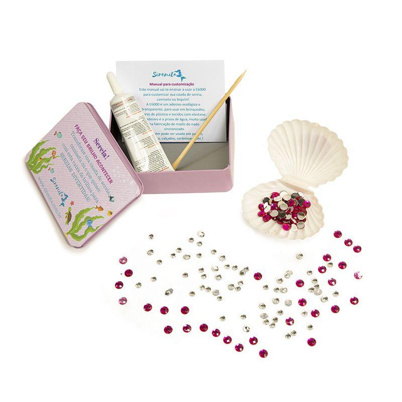Kit Customização Rosa - Caudas Encantadas