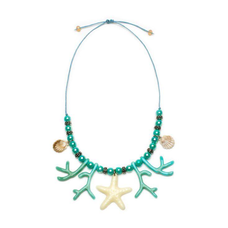 Colar Estrela e Corais verde