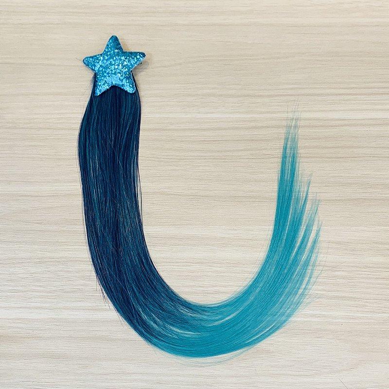 Cabelo mágico de Sereia Estrela Azul