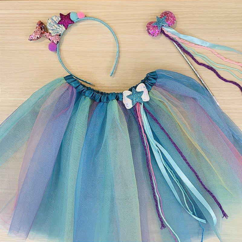 Kit Fantasia Carnaval céu azul