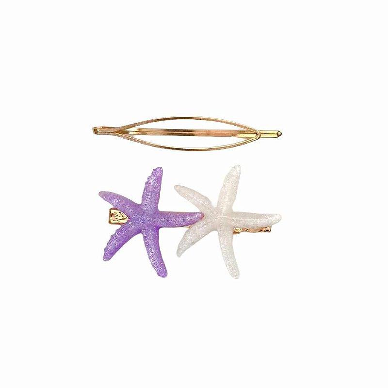 Presilha Estrela Roxa e Branca