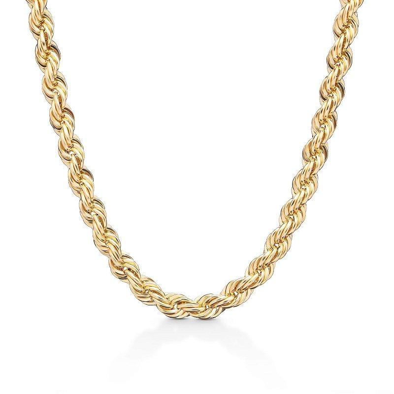 Cordão Baiano Colar Corrente Grossa Ouro Feminina 45cm