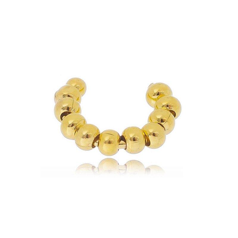 Piercing Fake de Bolinha Pressão Cartilagem Banhada A Ouro