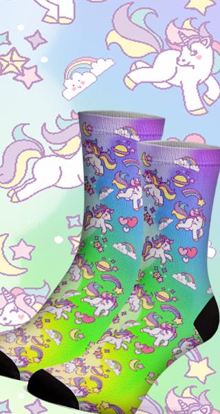 Meias Fun Unicornio