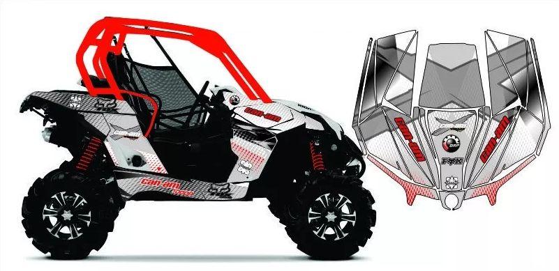 Kit Com 1 Coifa Homocinética para UTV e Quadriciclos Can-am e Polaris  (vários modelos)