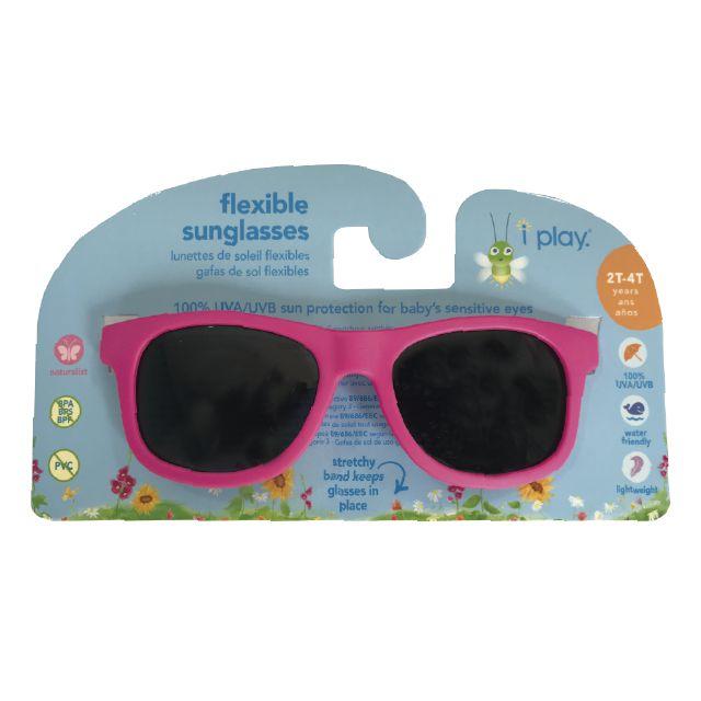729be2dd479b5 Óculos de Sol Flexível Infantil - Rosa Pink - 2-4 anos - Iplay - loorish