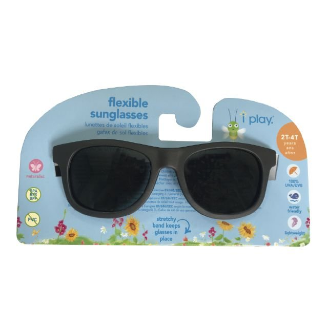 5dc4c7a60 ... Óculos de Sol Flexível Infantil - Preto - 2-4 anos - Iplay - Imagem