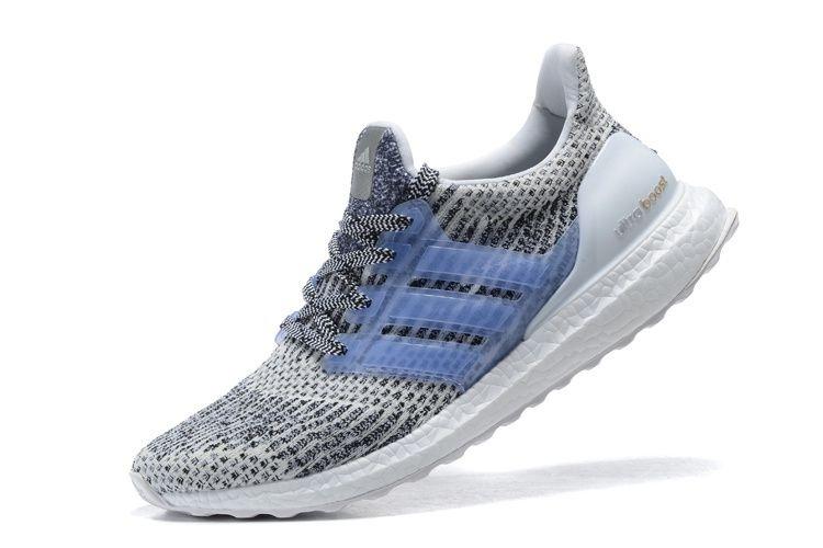 Tênis Adidas Ultra Boost - Feminino - Cinza Azul Claro - Shoes Hub ... 8923255aef861
