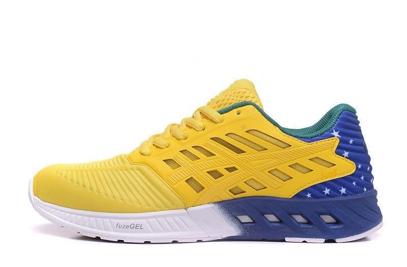 Tênis Asics FuzeX - Masculino - Amarelo e Azul - Shoes Hub - Seu ... cfdaf029e48a4