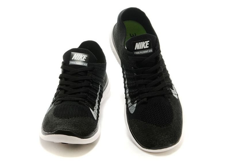 e8619b3fa2 ... Tênis Nike Free 4.0 Flyknit - Feminino - Preto e Cinza - Imagem 4 ...