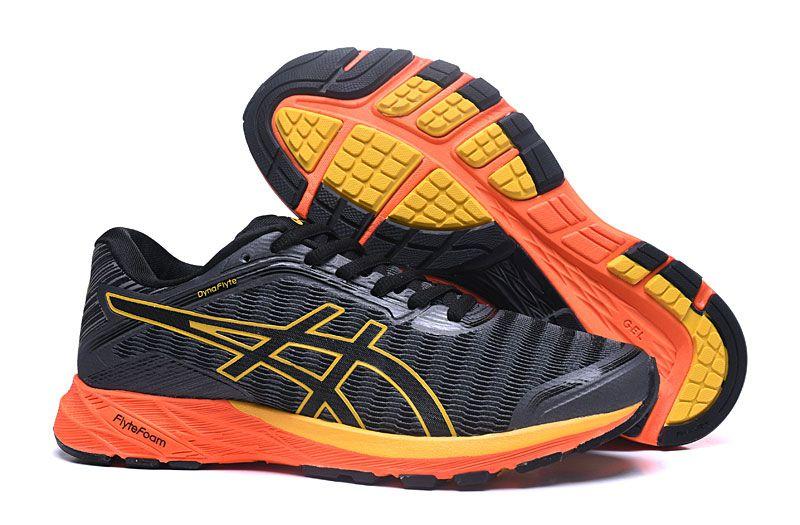 Tênis Asics DynaFlyte - Masculino - Preto e Laranja - Shoes Hub ... 9bced58050d10