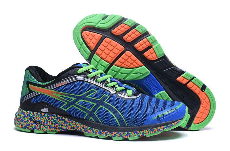 Tênis Asics DynaFlyte - Masculino - Azul e Verde - Shoes Hub - Seu ... 33fc3dfd12509