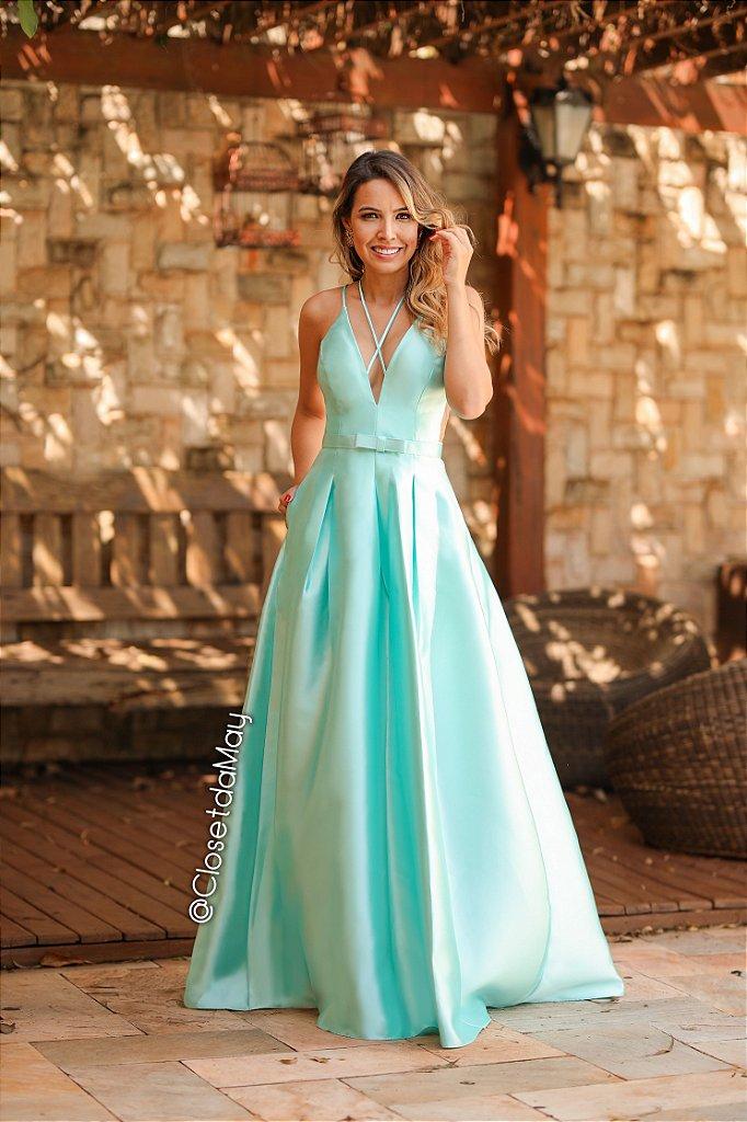 37d20df3f ... Vestido de festa longo zibeline com cinto chanel cores - Imagem 8 ...
