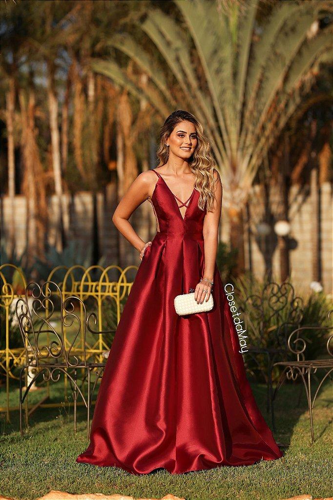 9401c2498 ... Vestido de festa longo zibeline com cinto chanel cores - Imagem 2 ...