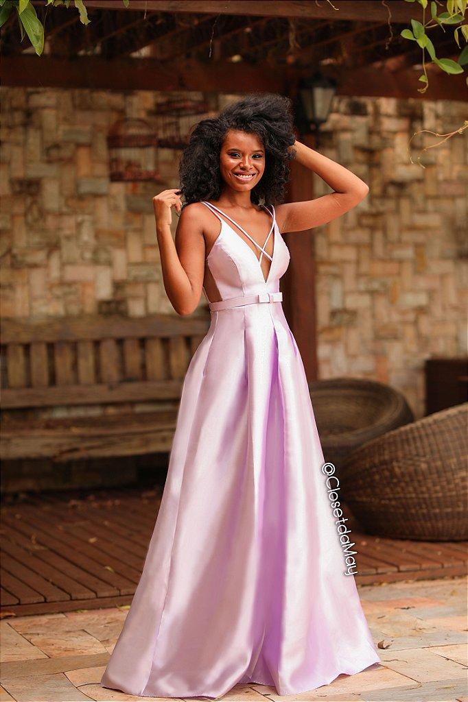 e5f1e67fa ... Vestido de festa longo zibeline com cinto chanel cores - Imagem 3 ...