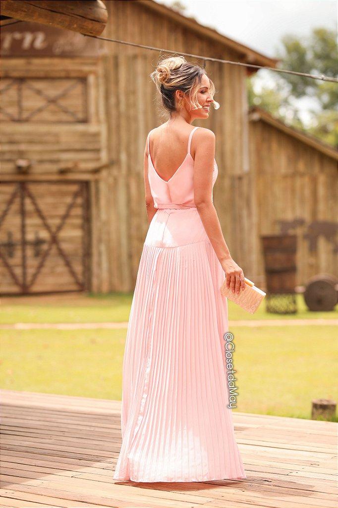 af0b38a6a ... Vestido de festa longo com decote bordado, madrinha casamento,  formatura, aniversário - Imagem