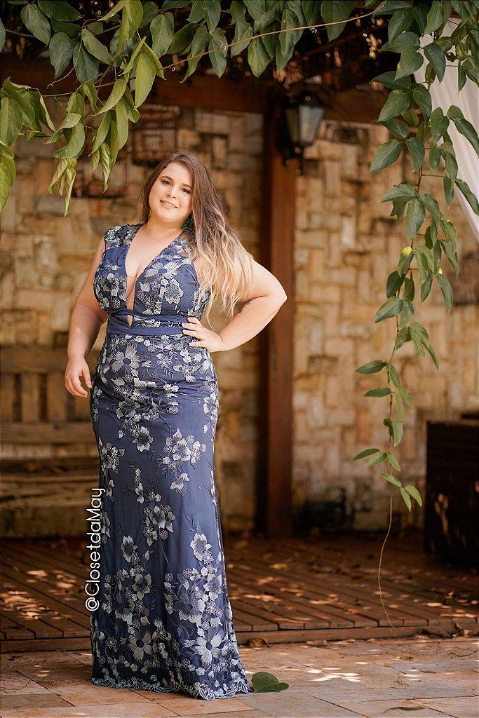 017dbc8d2 Vestido de festa longo com tule bordado, madrinha de casamento, formatura,  ...