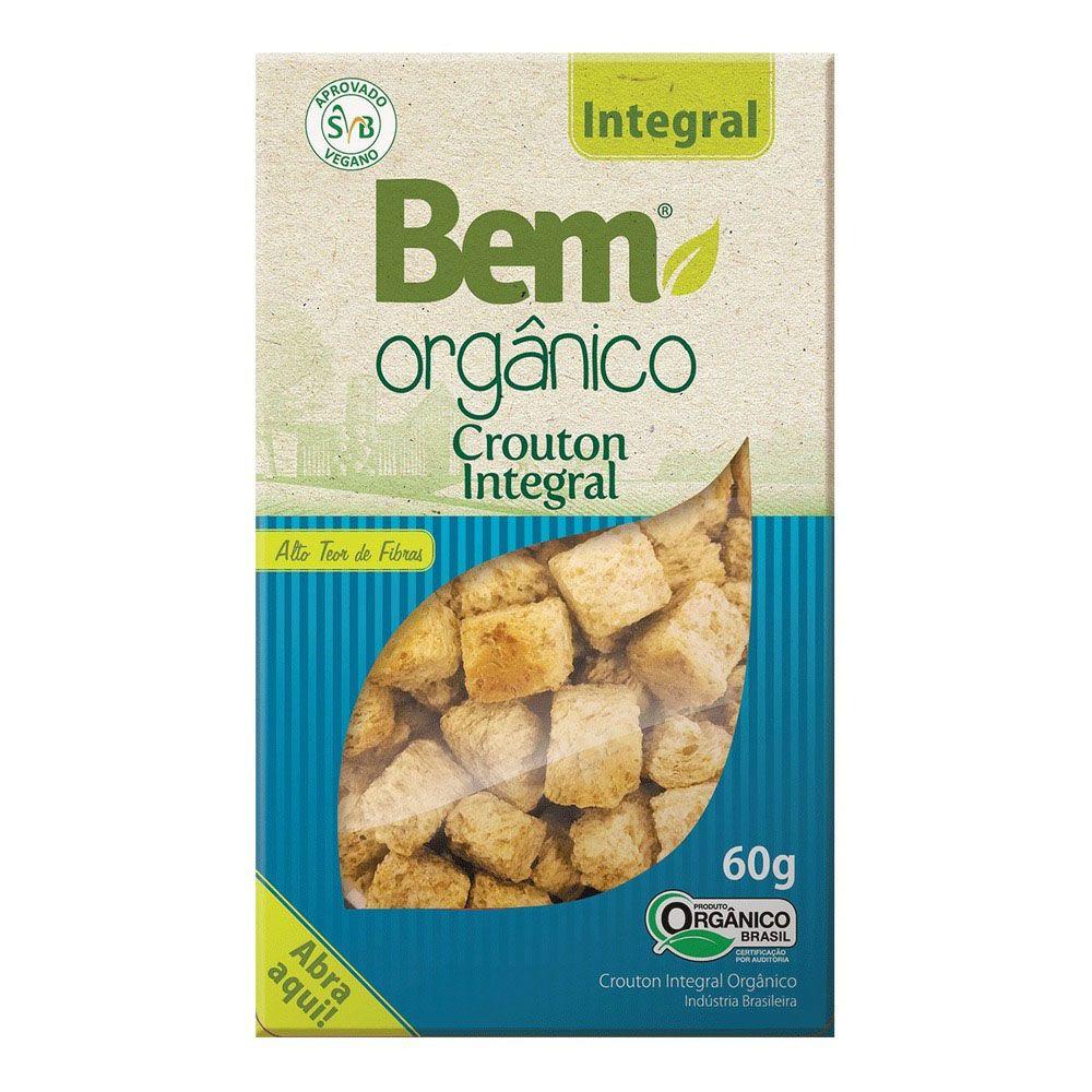 12 Crouton Bem Orgânico Integral 60g - 10% Desconto