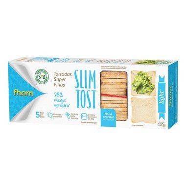 12 Torrada Slim Tost Light 110g ( Promoção) - 5% desconto