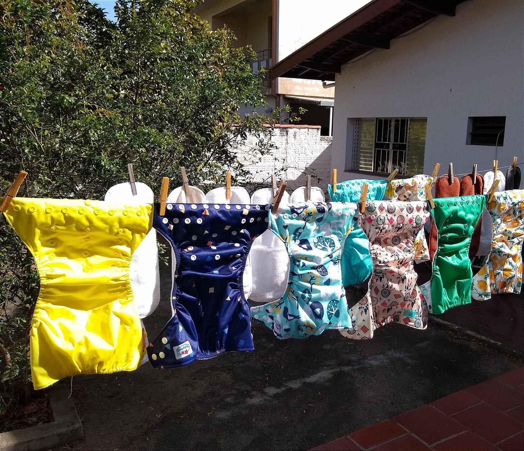 fraldas ecológicas - como lavar e secar - 6