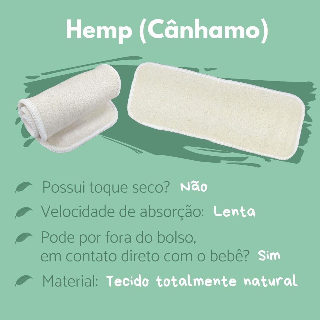 fraldas ecológicas - sobre os absorventes - Cânhamo