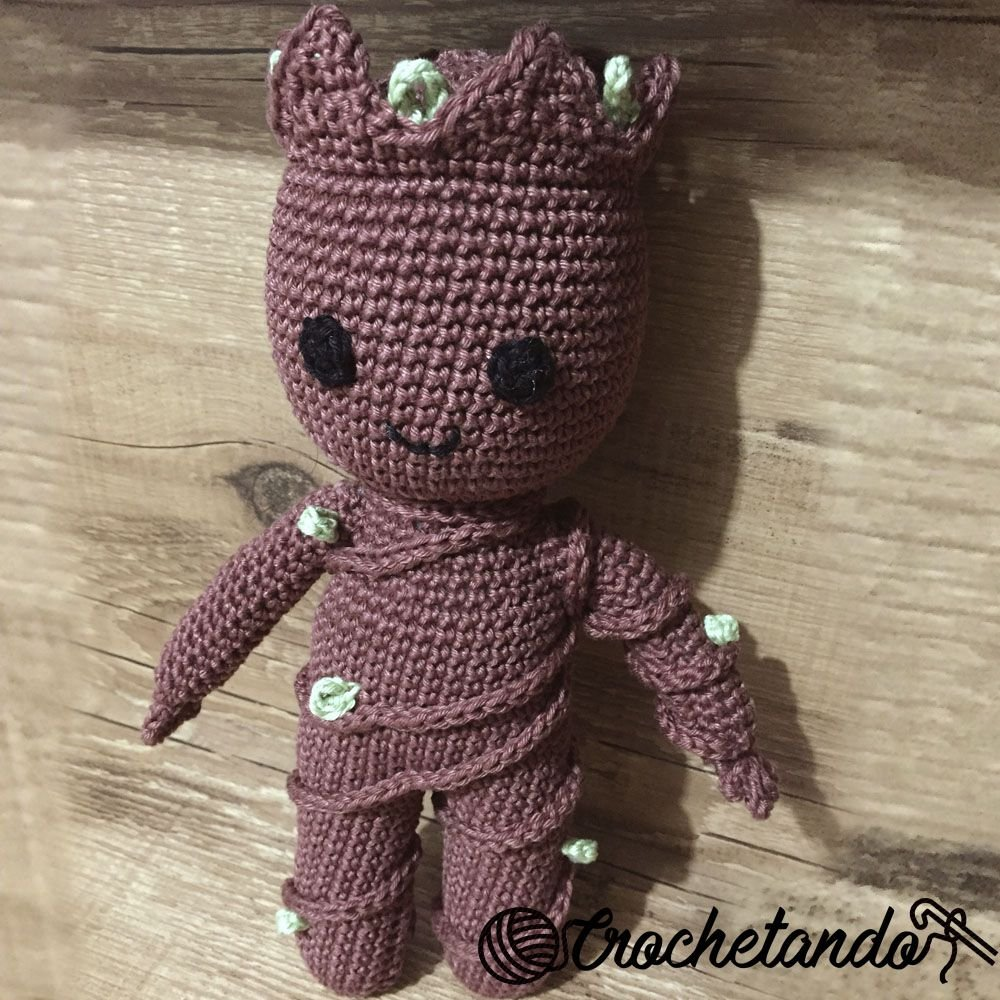 Baby Groot from Guardians of the Galaxy Crochet Amigurumi Figure ... | 1000x1000