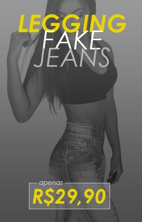 Calça Legging Fake Jeans