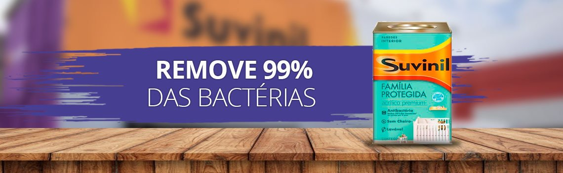Tinta que remove 99% das bactérias das paredes A única tinta no mercado que tem o selo da ANVISA