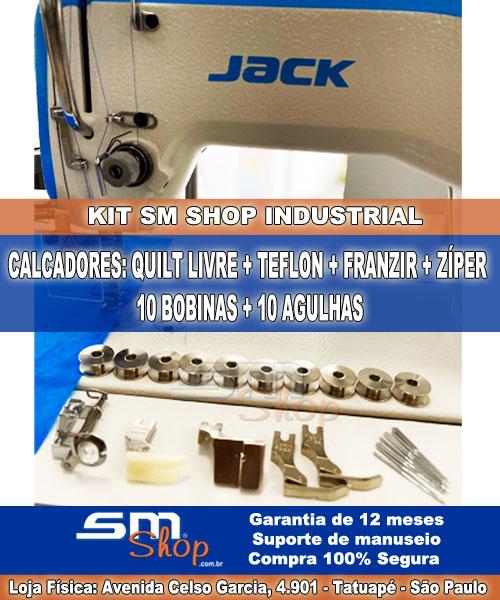 Máquina de Costura Jack Industrial com Kit