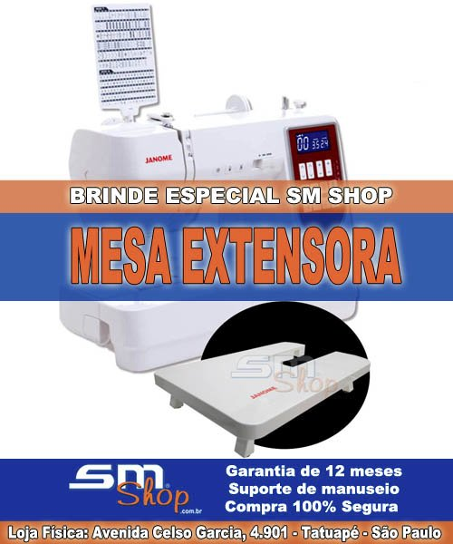 Máquina de Costura Janome DM7200 Sm Shop brinde