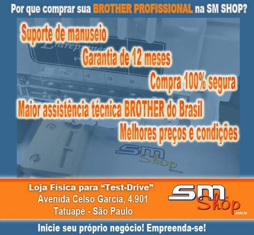 Máquina de Bordado Brother PR1050 na SM Shop