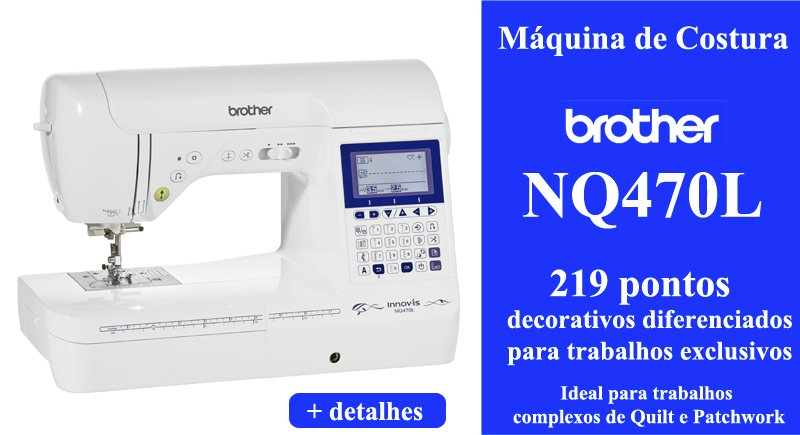 Máquina de Costura Brother NQ470l - Sm Shop