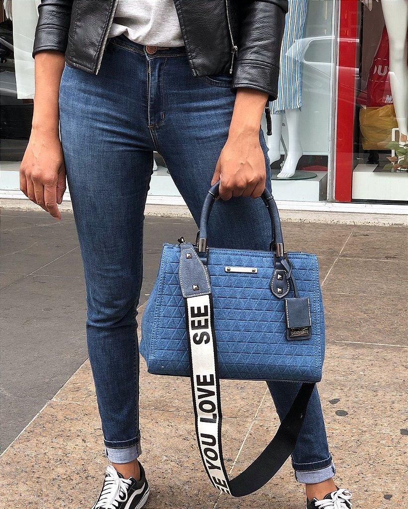 5d1df8f5c Bolsa Inspired Lorena tote triangle Jeans Schutz - CAEME | Bolsas e ...