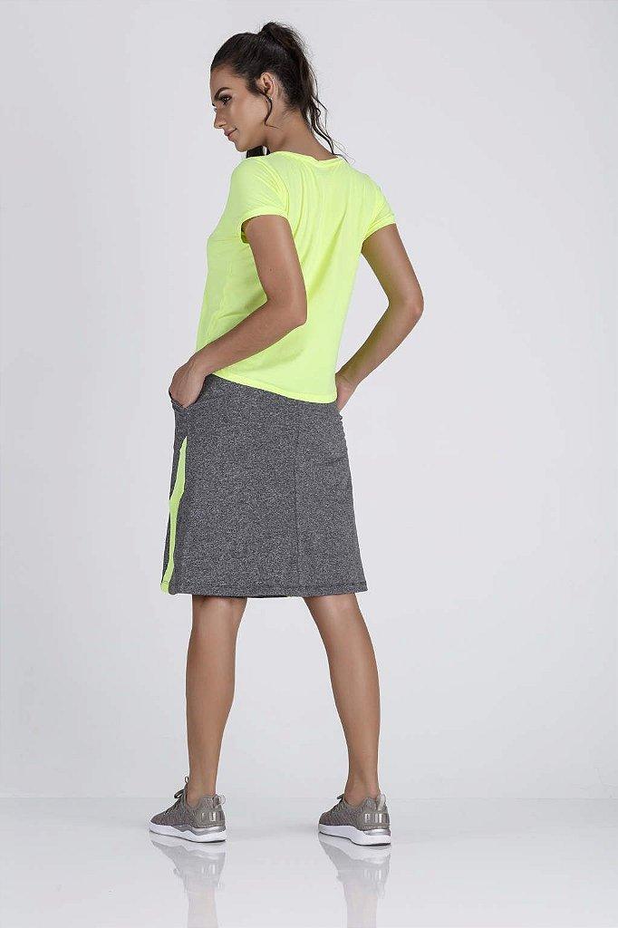 7846fd975 ... Saia Shorts Moda Fitness Evangélica Epulari Mescla Detalhe Amarelo -  Imagem 4 ...