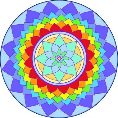 Adesivo Para Parede Mandala da Criatividade 60cm