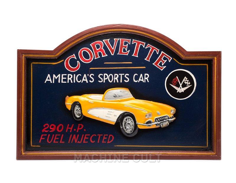 Placa Corvette em alto relevo