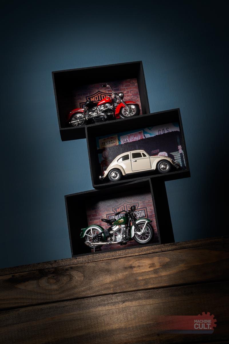expositor para miniaturas Harley-Davidson escala 1:18 e 1:24