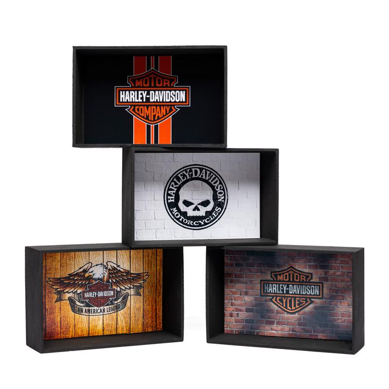 Kit Expositor Miniaturas Harley-Davidson 1:18