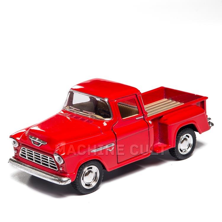 Miniatura 1955 Chevy Stepside Pick-Up 1:32 - Vermelho