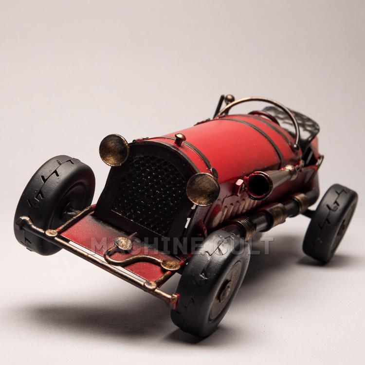 Miniatura Carro de Corrida Antigo - Vermelho Ferrari