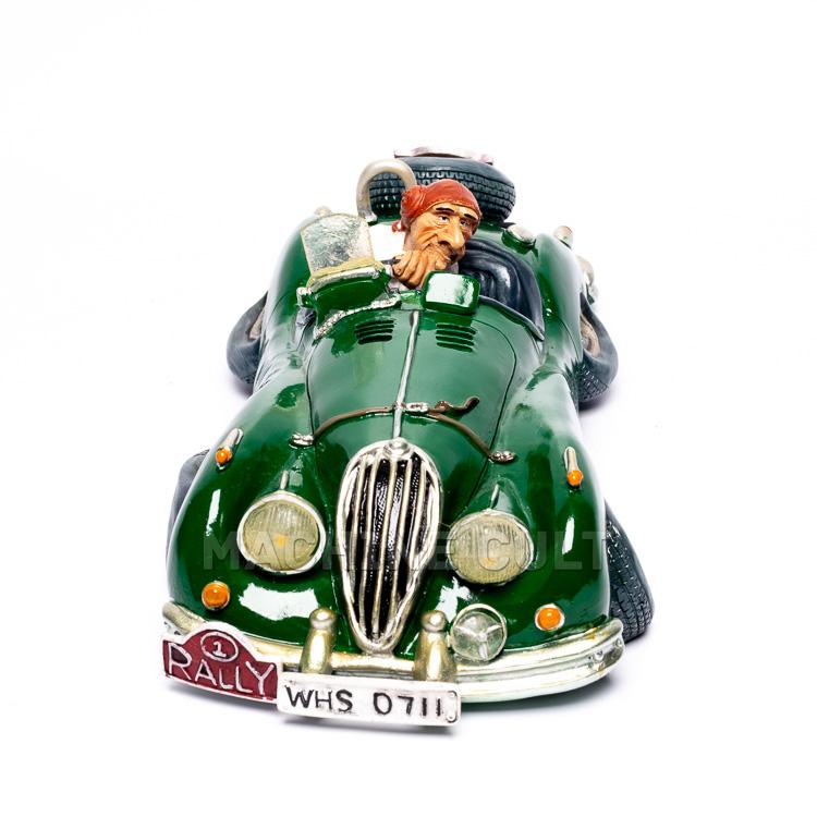 Miniatura Carro de Corrida e Piloto de Rally para decoração