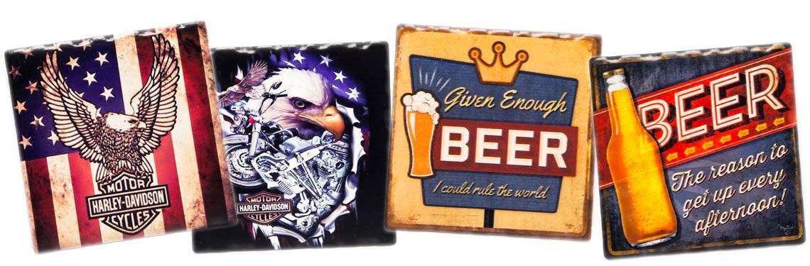 Porta-copos cerveja e presente Harley-Davidson