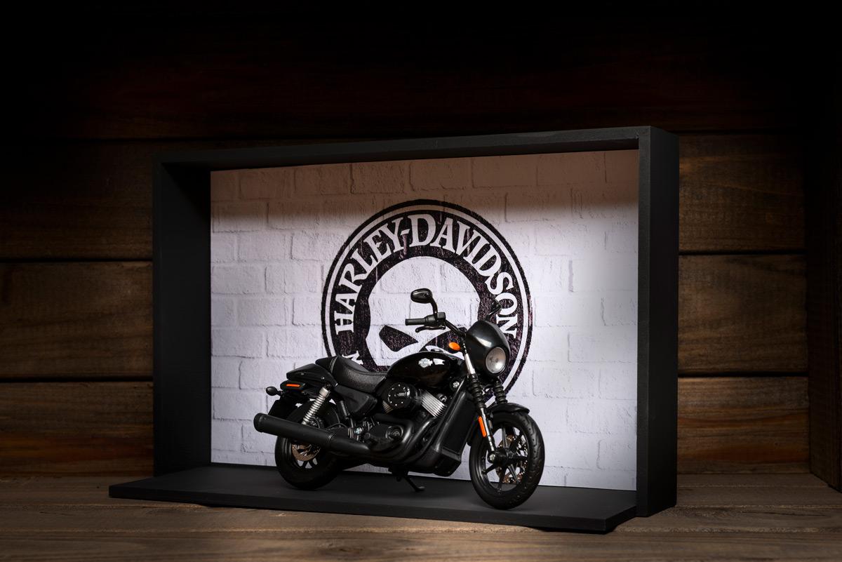 presente para motoqueiro Harley-Davidson Miniatura e Expositor