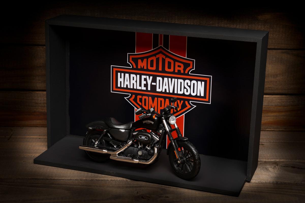 presente Harley-Davidson Miniatura e Expositor - Presente Motociclista