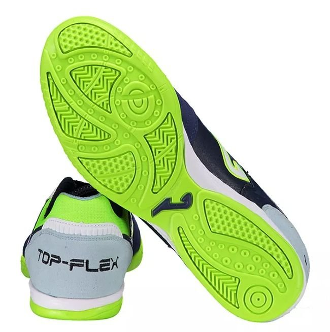 c51606cfe2336 ... Tênis de Futsal Joma Top Flex 703 - Marinho e Verde Limao Neon - Imagem  ...
